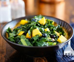 weight loss recipe blueberry mango kale salad