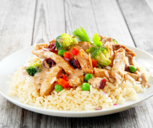 rice vegetables chicken