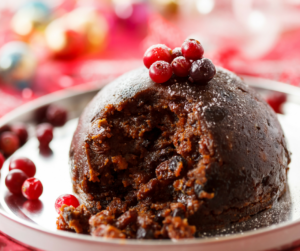 Christmas pudding healthy low fat reduced sugar